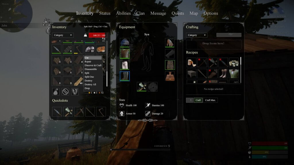 Voici l'interface de Valnir Rok