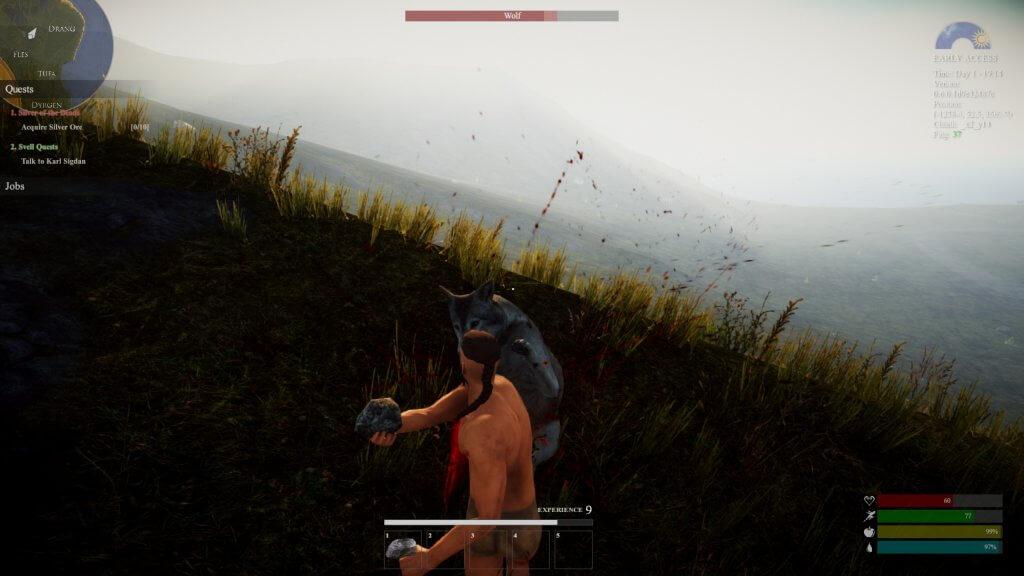 Toi aussi devient un homme et fracasse ton loup avec une pierre !