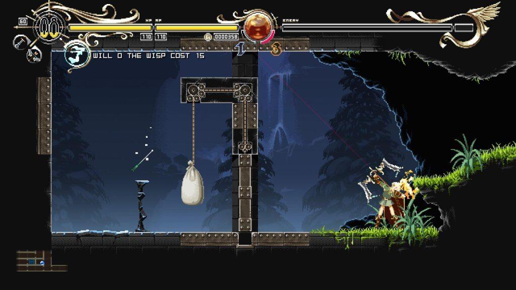 Deedlit in Wonder Labyrinth - L'arc est un élément important du gameplay pour accéder à certaines zones